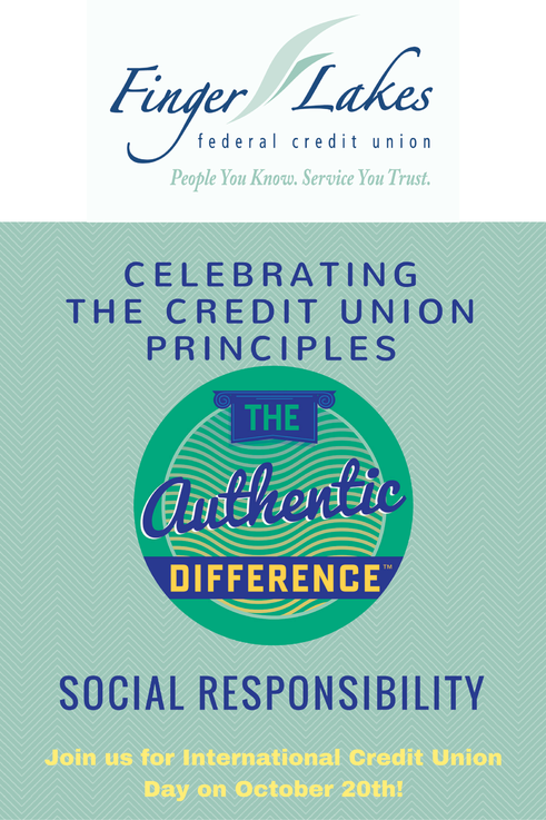 Finger Lakes FCU - Celebrating the CU principles. Celebrating the Credit Union Principles. Join us for international CU day on Oct. 20th.